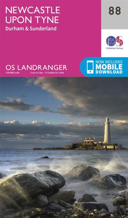 OS Landranger 88 Newcastle upon Tyne